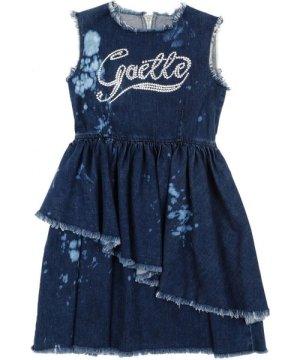 Gaëlle Paris DRESSES Ga�lle Blue Girl Cotton