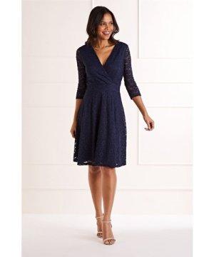 Mela London Delicate Lace Long Sleeve Dress