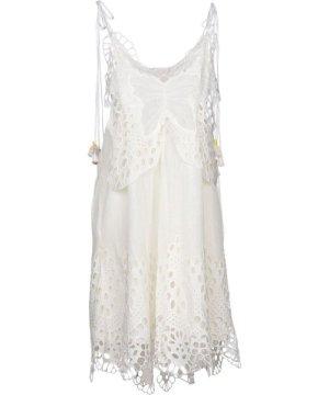 Chloé Chloe Ivory Linen Lace Dress