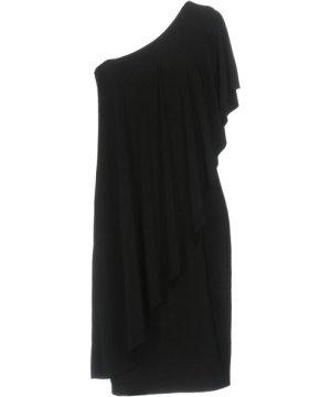 Norma Kamali Kamalikulture By Black One Shoulder Dress