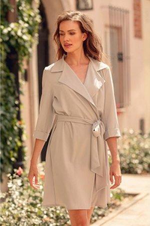 Figl Grey Midi Shirt Dress