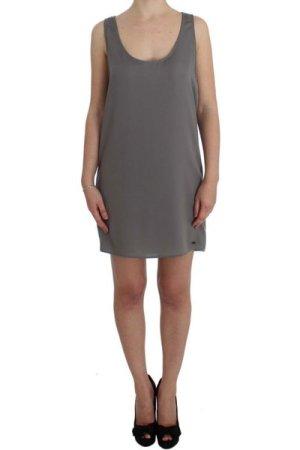 Costume National Gray Stretch Shift Lingerie Dress