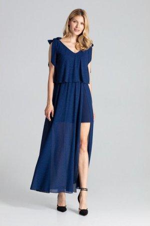 Figl Navy Sleeveless Maxi Dress