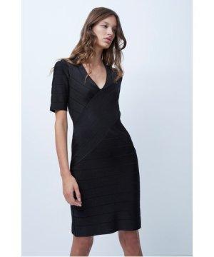 Zasha Spotlight Bodycon Dress - black