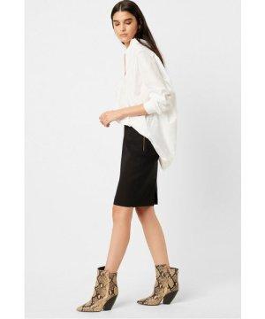 Street Twill Pencil Skirt - black