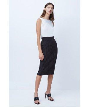 Jolie Knits Midi Skirt - choc truffle/black