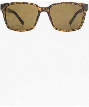 Metal Insert Plastic Sunglasses - matte tortoise
