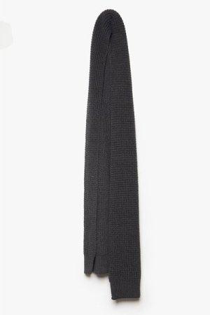 Chunky Waffle Knit Scarf - charcoal grey