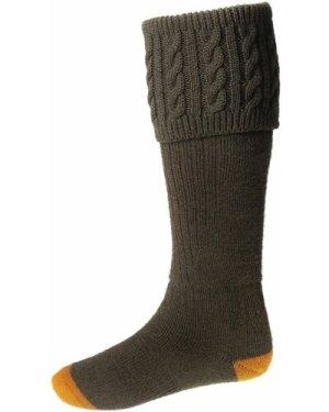 House Of Cheviot Mens Sutherland Socks Bracken Medium