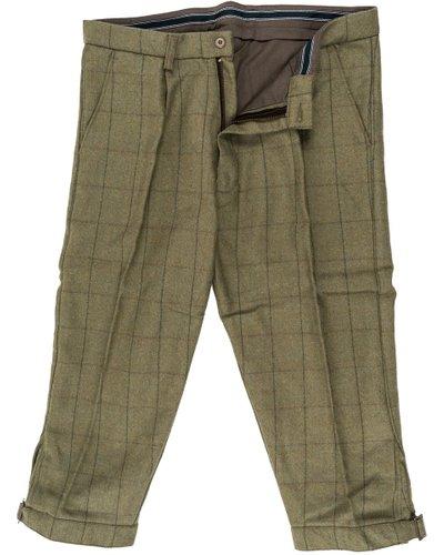 Heritage 1845 Mens Tweed Breeks Green 38
