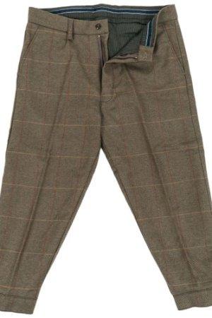 Heritage 1845 Mens Tweed Breeks Olive/Brown 32