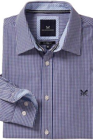 Crew Clothing Mens Classic Micro Gingham Shirt Ultramarine XXL