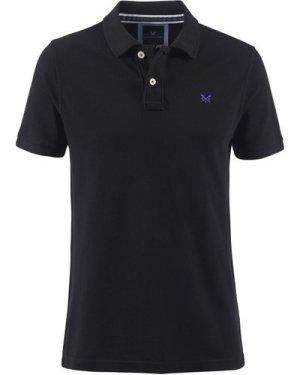Crew Clothing Mens Classic Pique Polo Shirt Black Small
