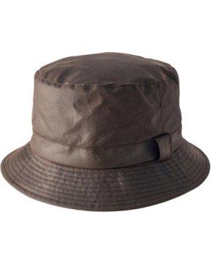 Heather Unisex Johnston Wax Bush Hat Brown XL