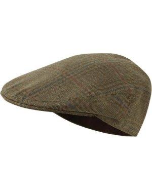 Schoffel Unisex Tweed Classic Cap Loden Green Herringbone Tweed 56cm (6 7/8)
