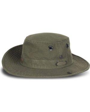 Tilley Unisex T3 Wanderer Medium Snap-up Brim Hat Vintage Olive 56cm (7)