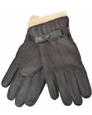 Barbour Mens Leather Utility Glove Brown Medium