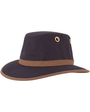 Tilley Unisex TWC7 Outback Waxed Cotton Hat Navy 58cm (7 1/4)