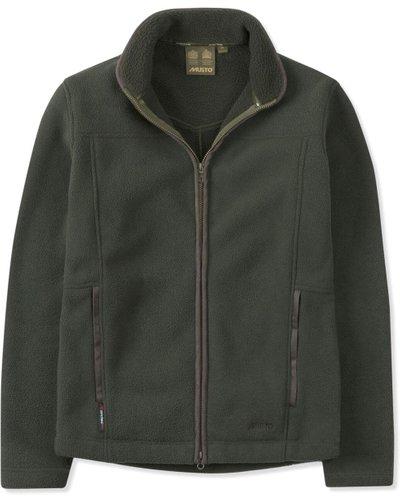 Musto Mens Melford Fleece Jacket Dark Moss Small