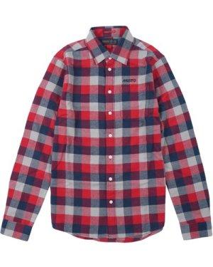 Musto Mens Marina Twill Shirt Deep Red Check M