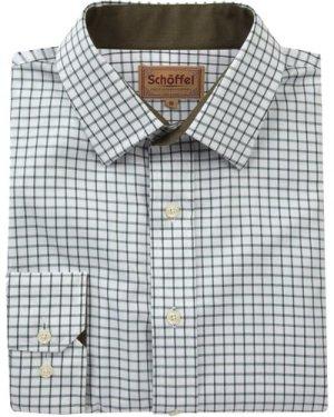Schoffel Mens Cambridge Shirt Dark Olive 19 Inch