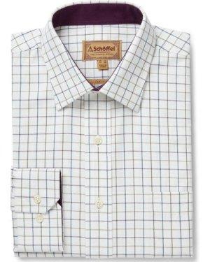 Schoffel Mens Burnham Tattersall Shirt Riverbed 19 Inch