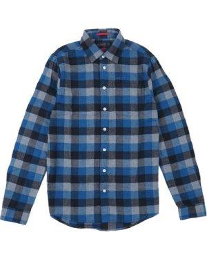 Musto Mens Marina Twill Shirt Deep Sea Check M
