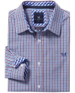 Crew Clothing Mens Classic Tattersall Shirt Spirit Blue / Cranberry Medium