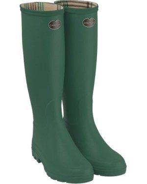 Le Chameau Womens Iris Wellington Boots Vert Fonce 41