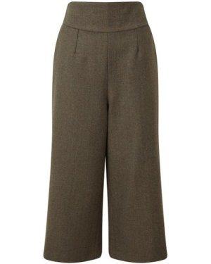 Schoffel Womens Tweed Culottes Loden Green Herringbone Tweed 12