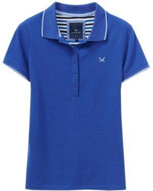 Crew Clothing Womens Revamped Classic Polo Ultramarine/Serene blue 14