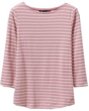 Crew Clothing Womens Essential Breton Flamingo/White 14