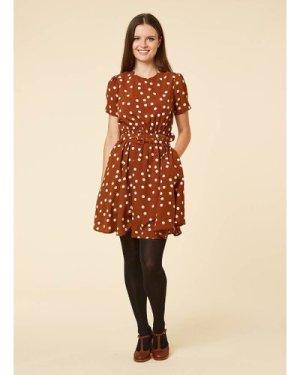 Vivian Polka Dot Belted Tea Dress - Vintage Style