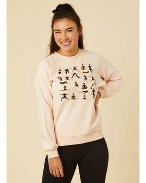 Yogi Yoga Pose Printed Sweatshirt - Vintage Style