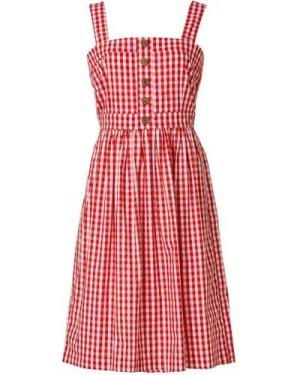 Rani Cotton Gingham Sundress - Red - Vintage Style