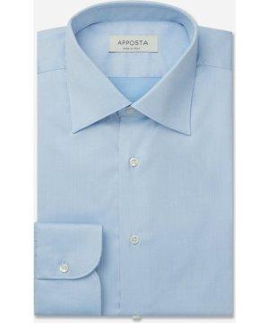 Shirt  solid  cyan 100% non-iron cotton twill, collar style  regular straight point collar