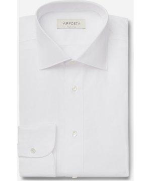 Shirt  solid  white 100% pure cotton oxford, collar style  semi-spread collar