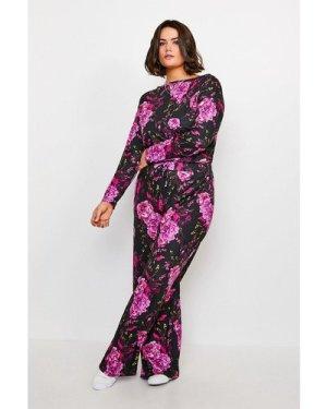 Karen Millen Curve Wide Leg Lounge Pant -, Floral