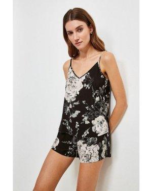 Karen Millen Floral Nightwear Cami -, Black
