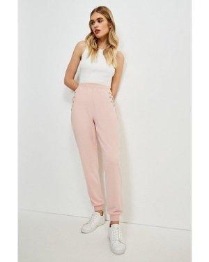Karen Millen Lounge Eyelet Pocket Sweat Jersey Pant -, Navy