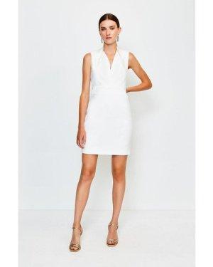 Karen Millen Cut Out Back Mini Dress -, Ivory