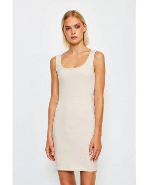 Karen Millen Smooth Essential Scoop Neck Slip Dress -, Nude