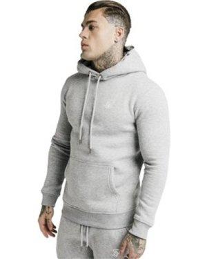 Siksilk  Muscle Fit Hoodie  men's Sweatshirt in Grey