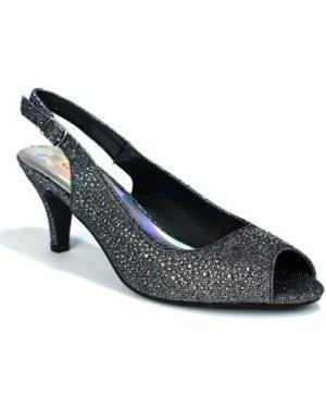 Strictly  Women's Kitten Heel Slingback Evening Sandal  women's Sandals in Black