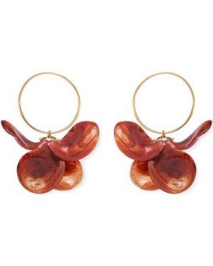 Malababa  Petalos  women's Earrings in Orange