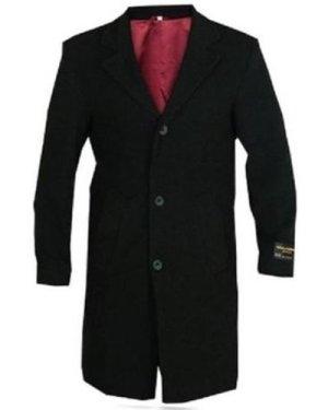 De La Creme  Wool and Cashmere Winter Coat  men's Coat in Black