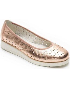 Padders  Dew Womens Ballet Pumps  women's Shoes (Pumps / Ballerinas) in Gold