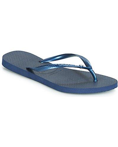 Havaianas  SLIM CRYSTAL GLAMOUR  women's Flip flops / Sandals (Shoes) in Blue