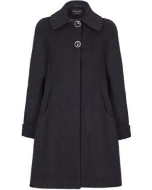 De La Creme  Swing Wool Cashmere Winter Coat  women's Coat in Black