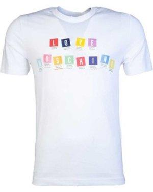 Love Moschino  M47312ZE1811_a00white  men's T shirt in White